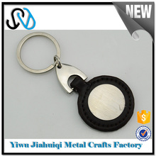 Wholesale china factory dog braided leather keychain