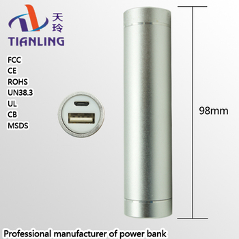 Professional manufacturer power bank lipstick portable grey portable