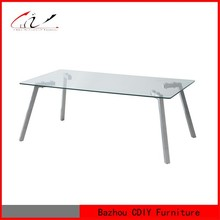 Cheap Glass Top Stainless Steel Coffee Table CT-913