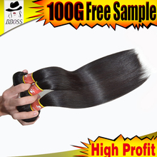 BBOSS brazilan hair factory shanghai unprocessed tangle free hair for weaving,50 inch hair extensions,black girl hair extensions