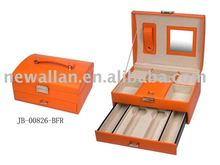 PU leather high-grade gift Jewelry Box and case.portable for traveling