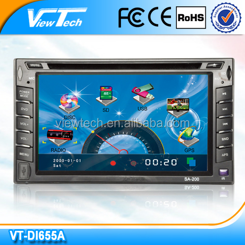 6.2inch wholesale 2 din auto radio car dvd