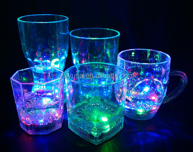 Multicolor LED Glass Light Up Cup Drinking Led Cup