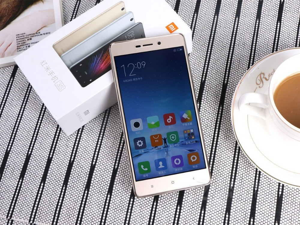 Xiaomi redmi 3s prime mobile phone 3GB+32GB 5+13MP CPU 1.4GHZ 4100mah battery