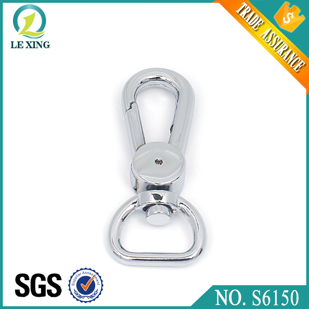 Guangzhou supply hardware accessory 13mm snap hook chrome handbag bag metal factory price