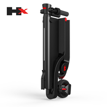 HX X6 Portable Adult Folding Electric Kick Scooter with removable Battery and bluetooth speaker for sale