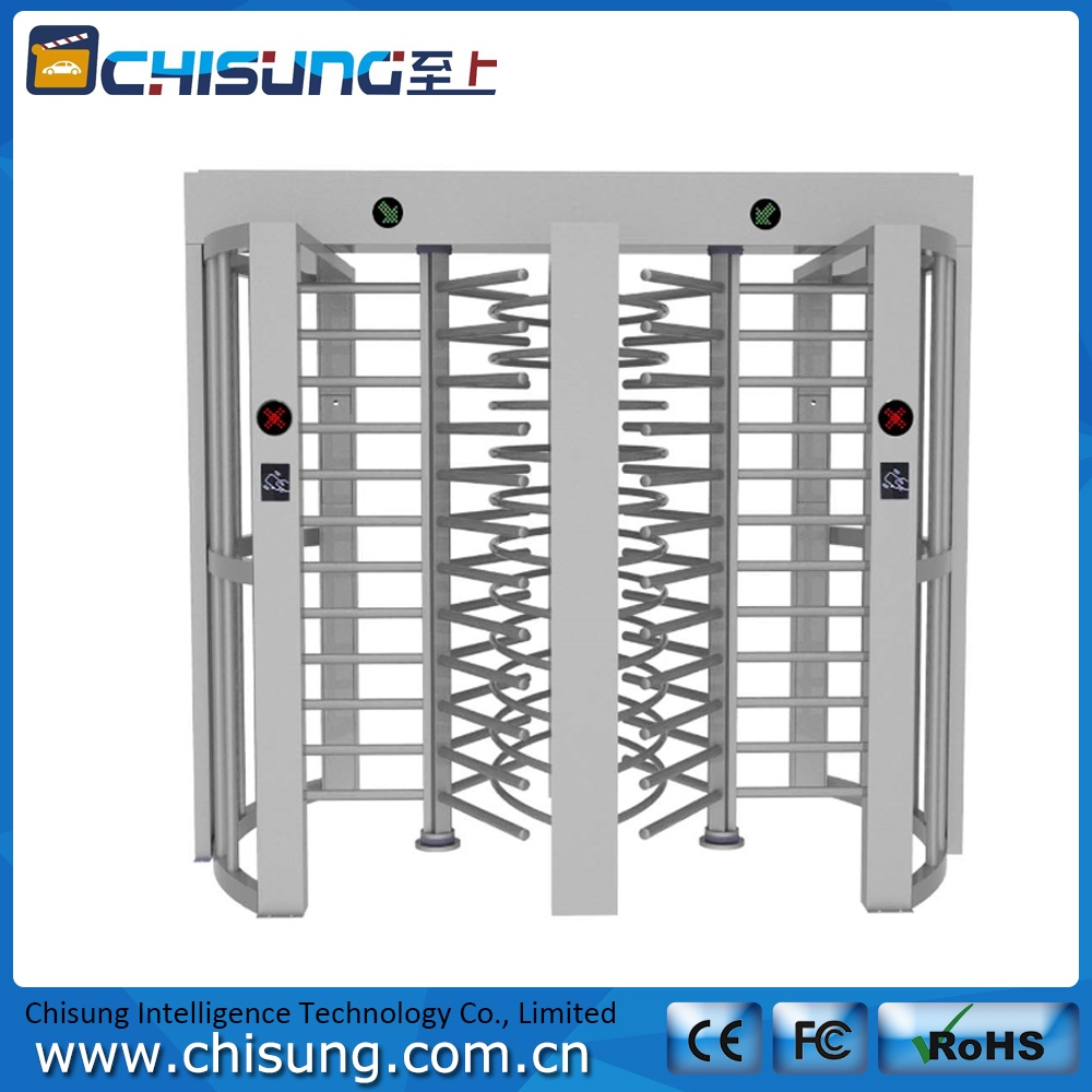 high quality access control system 2-lane full height turnstile