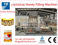 Shanghai factory price automatic honey glass bottle /jar filling machine