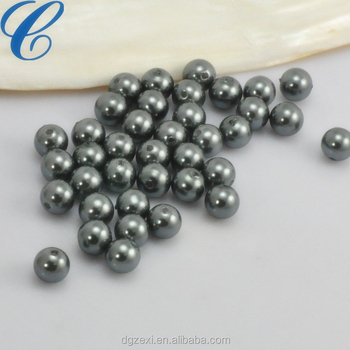Chenzhuxi CZX1704211 Pearl Online Glass Gray Beads