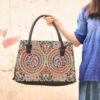 Best seller shoulder bag ethnic embroidery Boho ladies shoulder bags