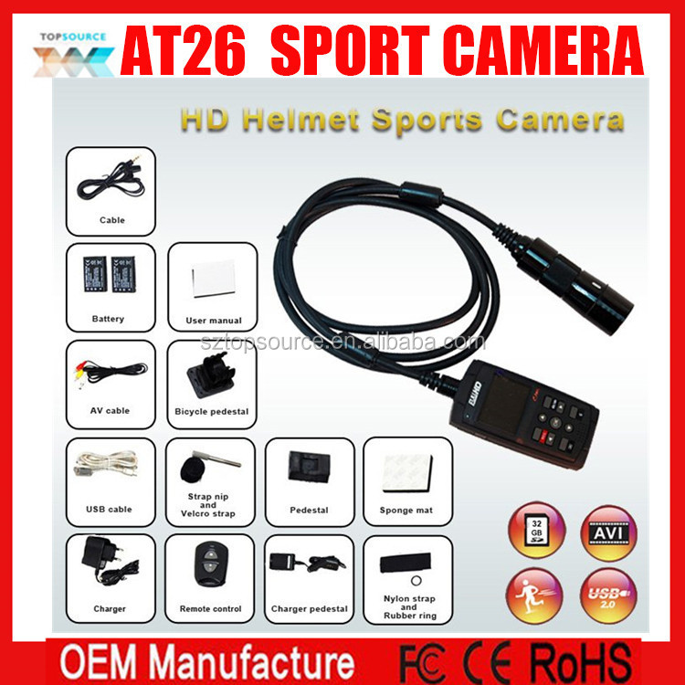 Sport Racing Camera 1080P FULL HD Motorcycle Camera with GPS+IR Remote control ,Action Camera