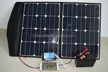 60W Sunpower foldable solar panel charger for outdoor activities