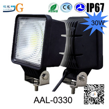 30W auto led working light Automobile Square led work light For car/motorcycles/jeep