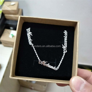 Silver Color Necklace Mom And Me Name Custom Jewelry