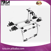 Universal Hitch 2 Bikes aluminum alloy rear mounting bicycle carrier for Sedan