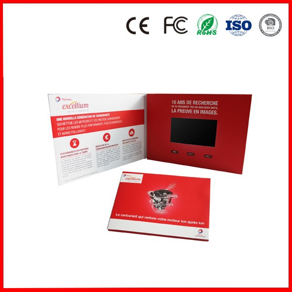 China alibaba hot selling video business brochure, top seller video greeting card 4.3inch TFT screen HD video player