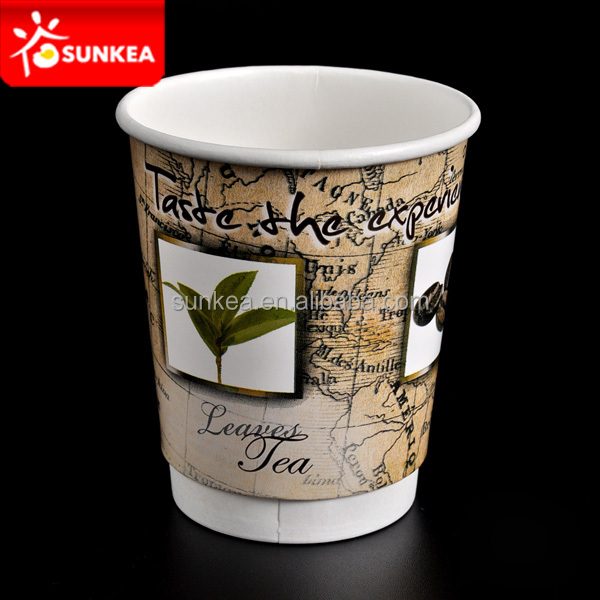 Disposable reusable paper tea cups