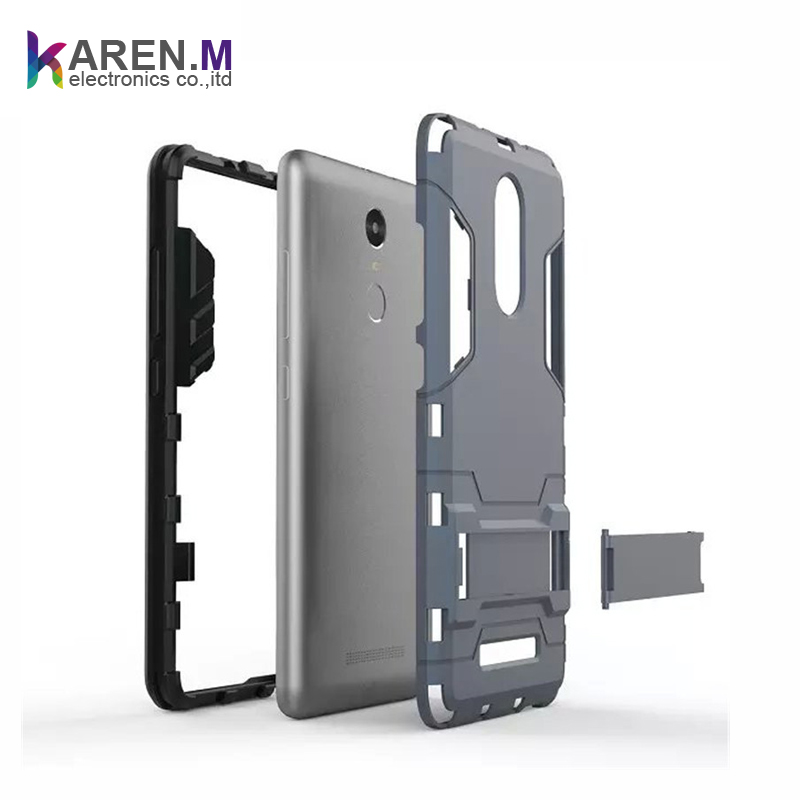 Latest Design Shockproof case cover for xiaomi red mi note 3 with Stand Function