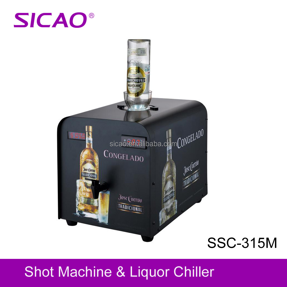 One bottle vodka spirit bar dispenser machine