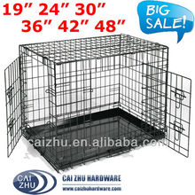 2016 Stainless steel heavy wire dog crate/iron dog cage for wholesale