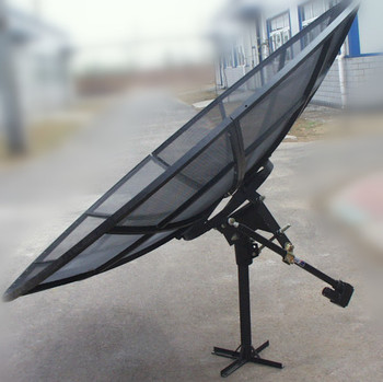 2.4m240 cm c band satellite aluminium dish antenna with motor