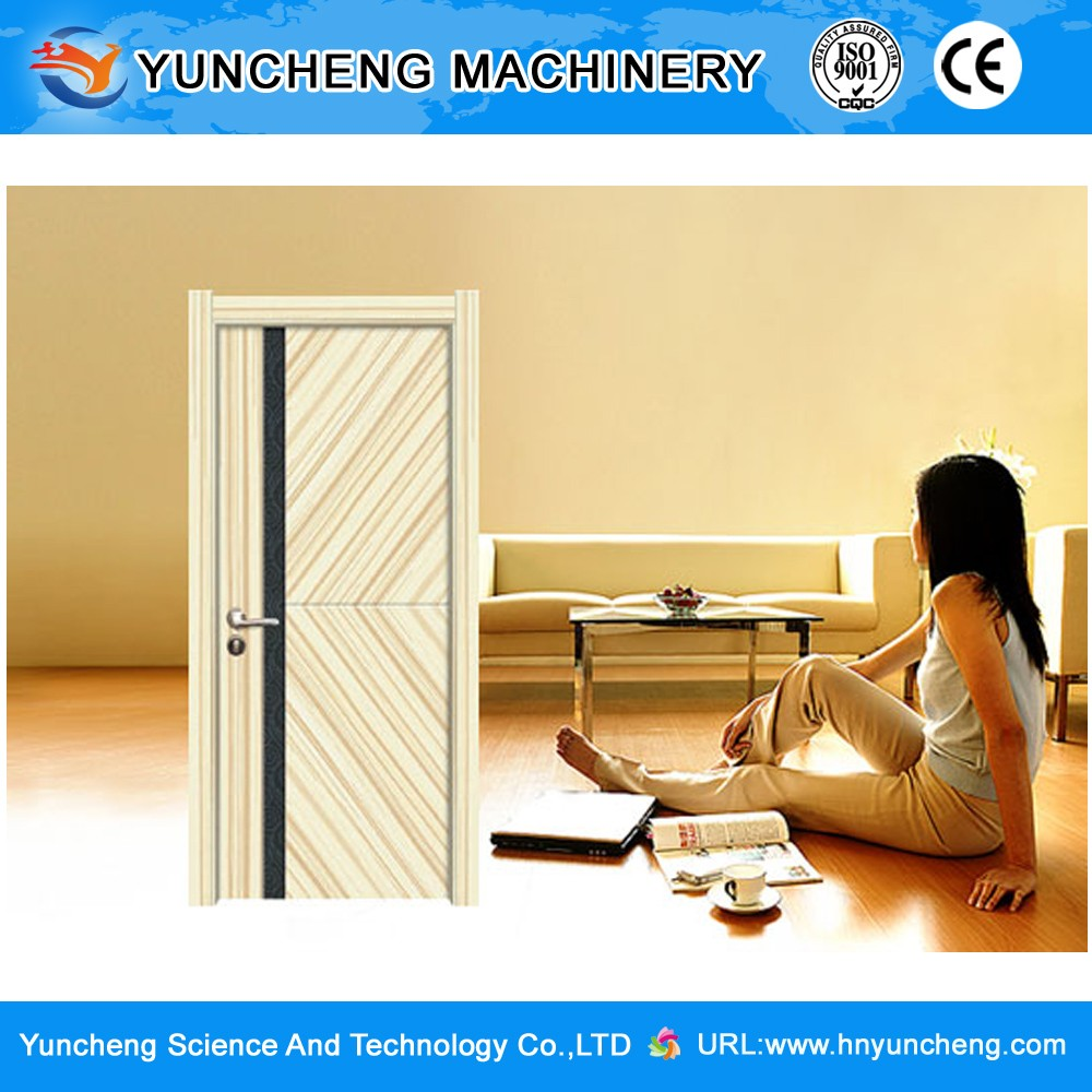 China Entrance and Classical Style Interior PVC Wooden Door