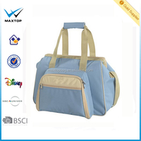 Polyester handbag quilted baby diaper bag with baby bag organizer