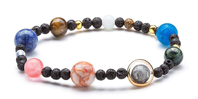 Cosmic galaxy eight planets bracelets man women
