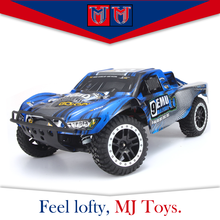 2.4G 4wd powered short distance rc car 1 10 truck toys car remote controlled, brush amphibious rc car nitro