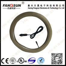 Auto warm Steering Wheel Cover for car accessory carbon fiber