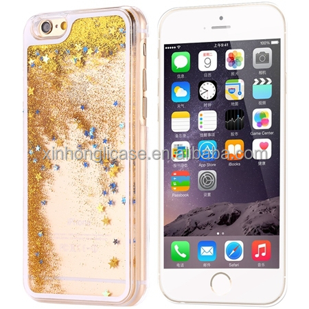 glitter hard case for iphone 6 and plus and plus,summer clear pc phone case