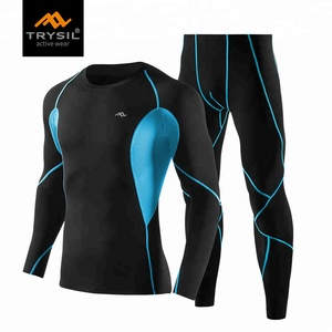2018 new design custom fitness wear factory wholesale custom men sport wear compression tracksuit