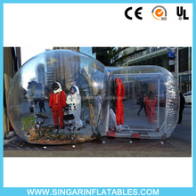 Hot selling transparent inflatable bubble camping tent,inflatable advertising tent
