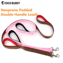 HOT retractable double dog leashes nylon rope pet leash soft handle dog lead