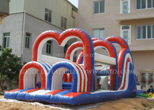 New design inflatable obstacle course for kids play B5005