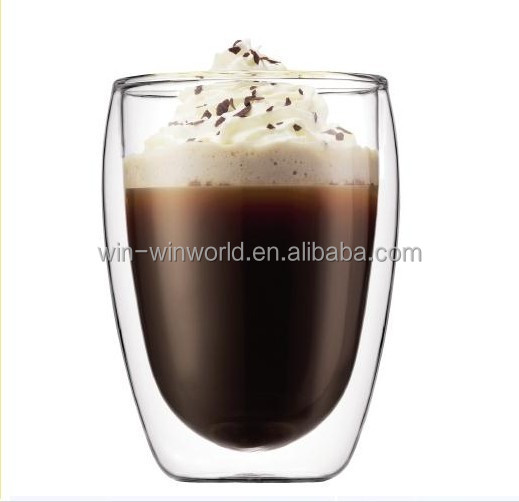Hot Selling Products Special Offer Promotion Gift Borosilicate Glass Double Wall Wholesale Cappucino Cups