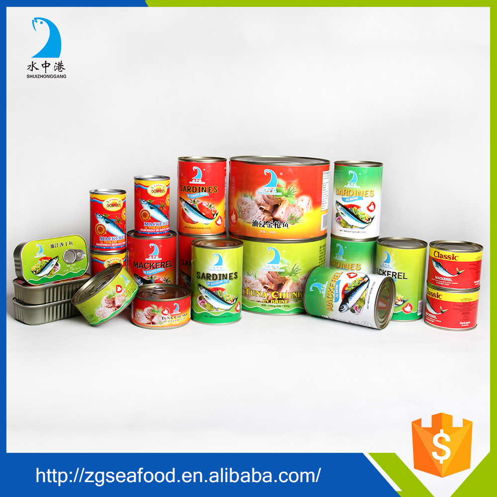High quality Vegetable Oil salted in brine canned mackerel
