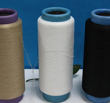 polyester spandex 75/30 covering/polyester crimp elastic yarn knitting weaving use