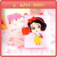 Snow White card bag printed felt fabric for lovely girl