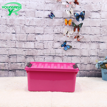 Factory wholesale manufacturer home clothes plastic storage box with lid