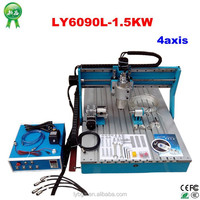 China newest! 4axis CNC Router Engraver LY6090L-1.5KW with More precise moving Linear guide rail