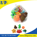 Spray water PVC colorful small animal toy for baby