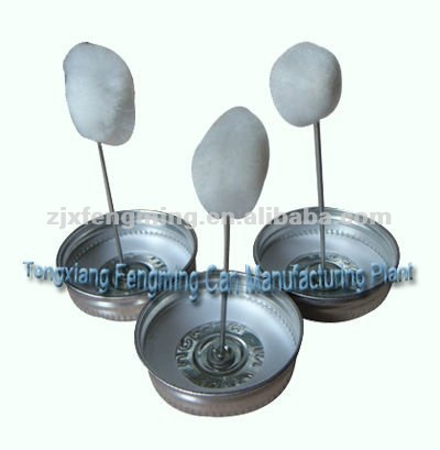 brush type lid, dauber cap (for pvc cans)