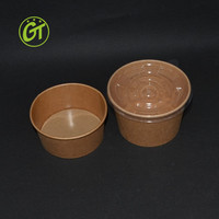 Disposable Printed Paper Bowl for Hot Soup Kraft Paper Salad Bowl