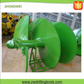 Double Start Single End Cylindrical Clay Drilling Auger