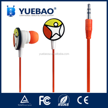 free sample earbuds with 3D logo for promotion