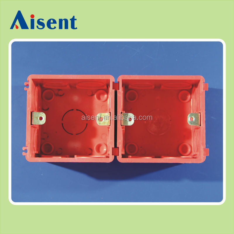 pvc box red/blue colour