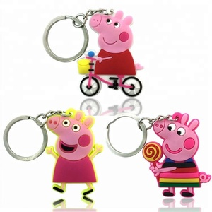 Hotsale Cartoon 2D Rubber PVC Keychain For Children