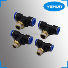 Male Branch Tee plastic fitting push in fitting, pu pipe fitting