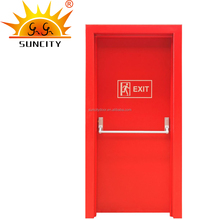 Decorative 2 hour steel fire rated hollow flush door skin emergency exit